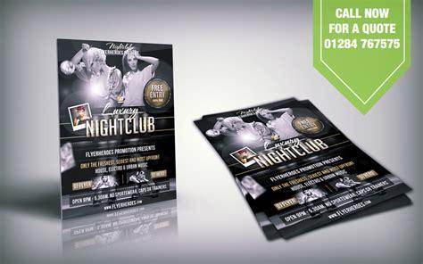 leaflet design bury flyer printing bury st edmunds suffolk pub nightclub