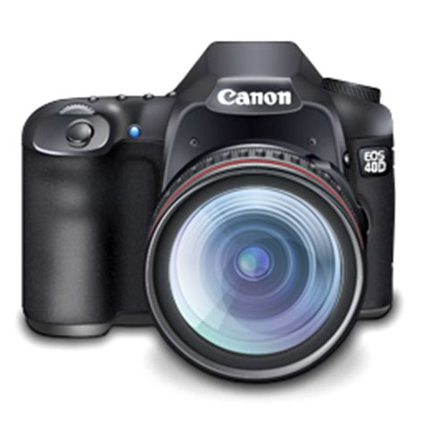 canon 40d digital slr camera icon png download free vector
