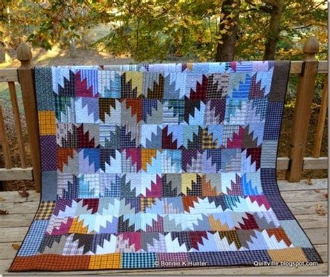 Mountain Top Quilting by This Scrappy Quilt Was Made From Plaid Shirts Quilting