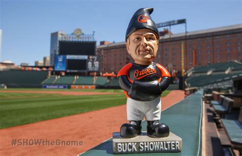 Orioles Camden Yards Replica Giveaway - baltimore orioles manager buck showalter garden gnome makes rounds on social media