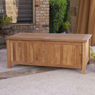 outdoor toy storage bench 4 ft teak wood storage bench on wheels patio lawn garden