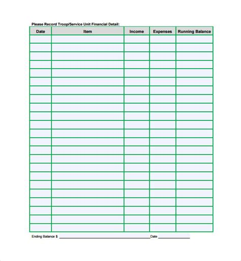 Financial Spreadsheet Template 7 Free Excel Pdf Documents Download Free Premium Templates Docs Finance Template