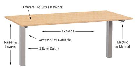 standing desk heights adjustable height standing desks accessories multitable