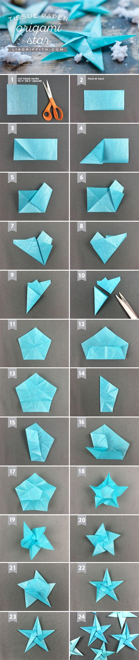 easy origami step by step christmas decorations tissue origami ornaments lia griffith