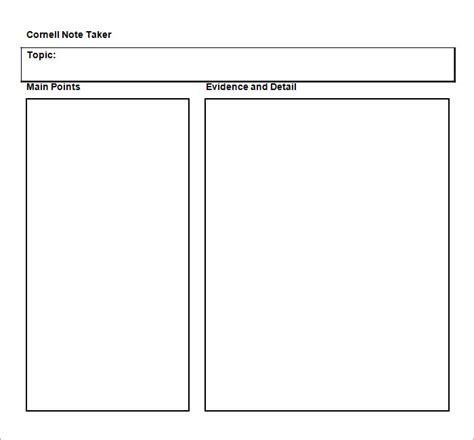 template of cornell notes cornell notes template 51 free word pdf format free premium templates