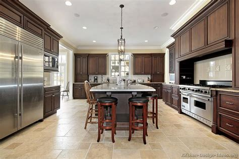 Large Kitchen Cabinets by A Large Luxury Kitchen Design With Dark Walnut Stained