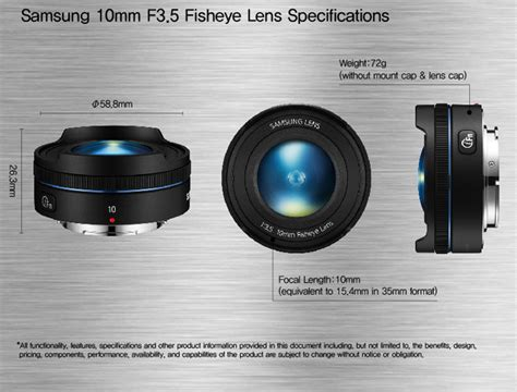 Samsung Lensa 10mm F3 5 Fisheye samsung announces the slimmest and smallest fisheye lens