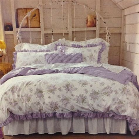 shabby chic bedding simply shabby chic lilacs floral ruffle duvet set 100 cotton cottage ebay