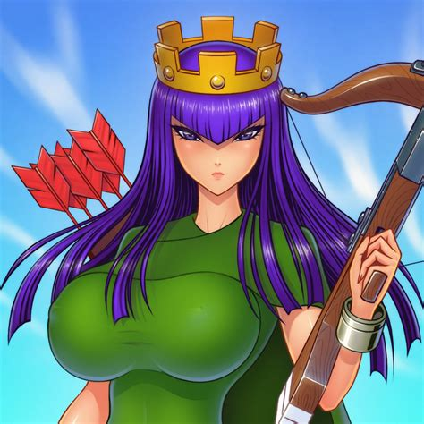 Kaos Anime Coc Clash Of Clans Clash Royal Android archer by akiranime on deviantart