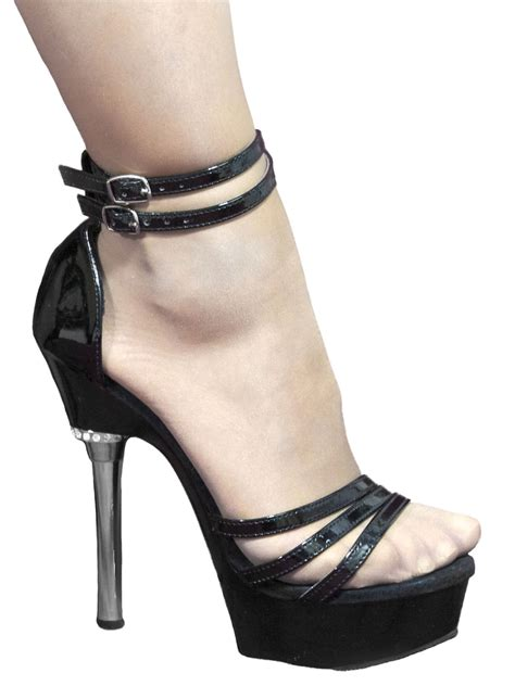 high heel flats pleaser black patent chrome high heel sandals tout ensemble