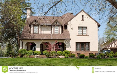 english tudor style house english tudor style home stock photo image 40249506
