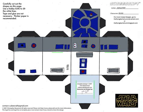 R2d2 Papercraft - sw3 r2 d2 cubee by theflyingdachshund on deviantart
