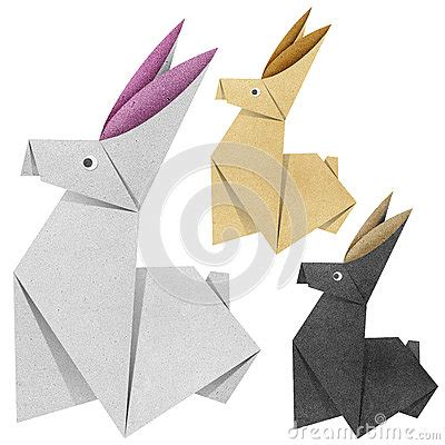 Recycled Origami Paper - origami rabbit recycled papercraft stock images image