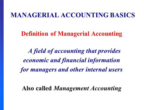 Financial Managerial Accounting managerial accounting ppt
