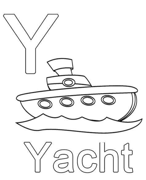 coloring pages for y letter y to print or for free