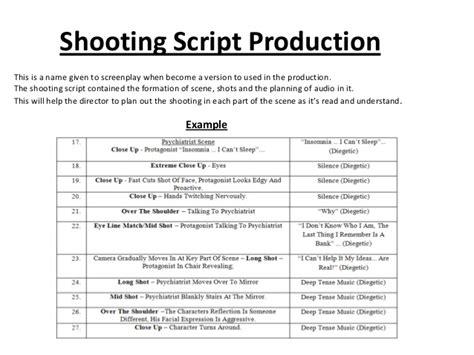 Presentation Screenwriter Production Script Template