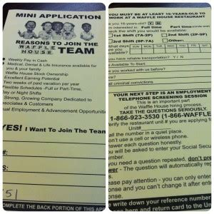 waffle house application waffle house perfect coffee and perfect job application form
