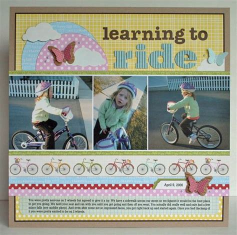 scrapbook layout cycling the 805 best images about scrapbooking card making on