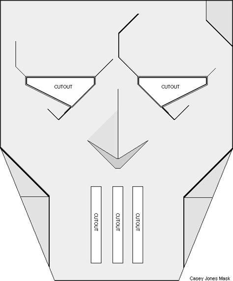 printable casey jones mask casey jones paper mask the technodrome forums