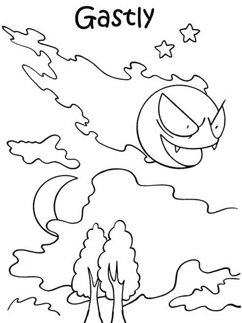 pokemon coloring pages of gastly tegninger til farvel 230 gning pokemon 31