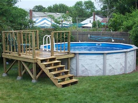 pool plans free deck on the ground square above ground pools small above