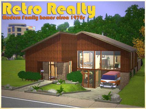 retro homes mod the sims retro realty 70s modern family home