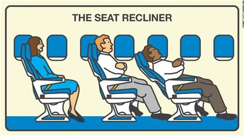 reclining seat on airplane quot هياج راكب quot يجبر طائرة على تغيير مسارها النيلين
