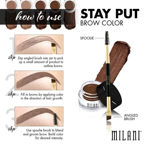 Maybelline Stay On Fleek milani stay put brow color taupe coral verslun