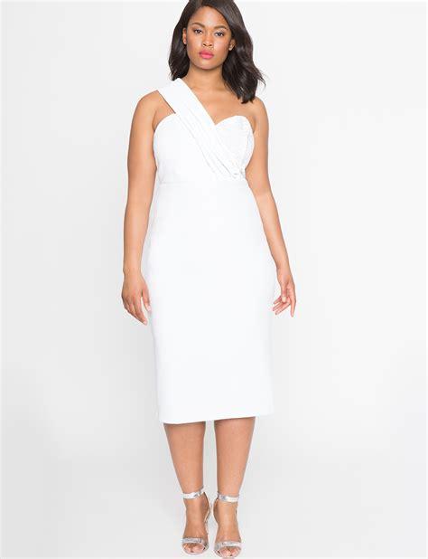 sweetheart one shoulder dress s plus size dresses eloquii