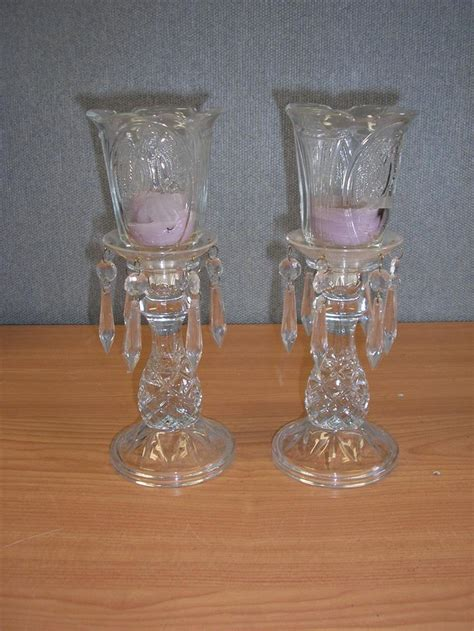 2 home interior candle holders auction items