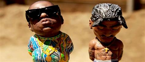 custom hand painted sculptures of tupac and biggie smalls