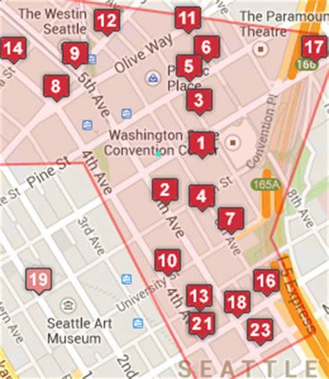 seattle map of hotels seattle convention center hotels seattle washington wa