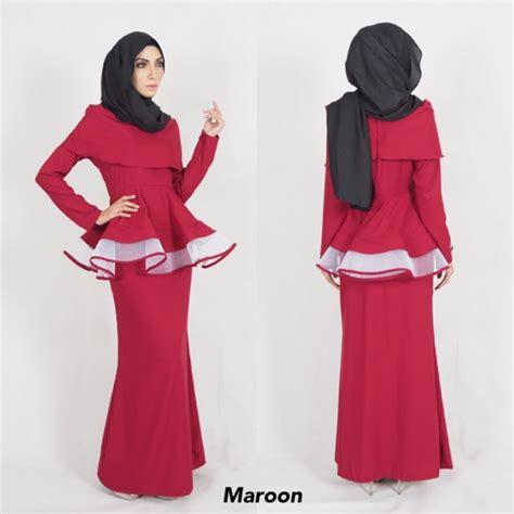 Baju Kenduri Kahwin s 10xl peplum baju kurung moden kenduri kahwin plussize jenifer raya 2018 shopee malaysia