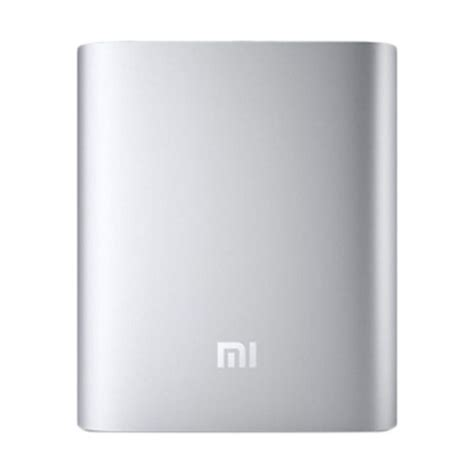 Powerbank Xiaomi 10400 Original jual xiaomi original power bank silver 10400 mah