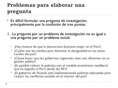 que son las preguntas de investigacion pdf la pregunta de investigaci 243 n
