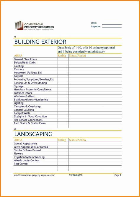 Building Maintenance Checklist Hunecompany Com Grounds Maintenance Checklist Template