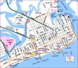 road map of atlantic city atlantic city new jersey