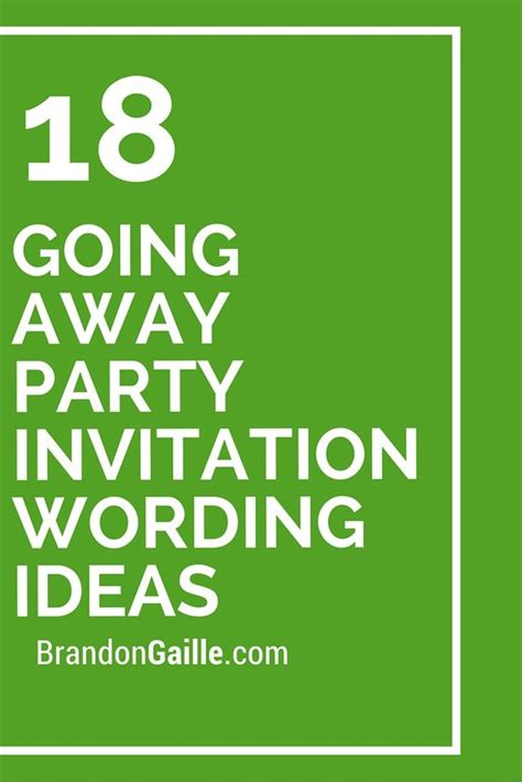 18 going away party invitation wording ideas invitation
