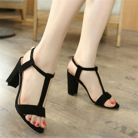 high heels with thick heels new fashion t sandals high heels thick
