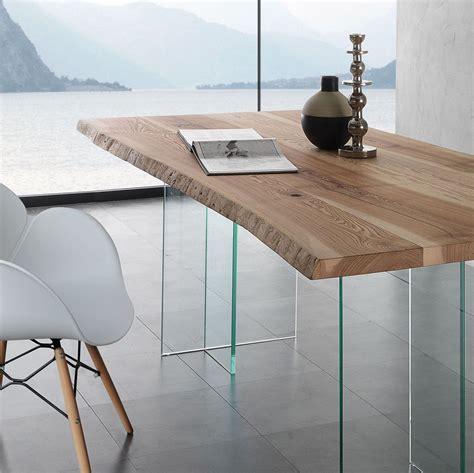 tavoli da soggiorno in cristallo aber tavolo da pranzo in cristallo e legno massello da 200