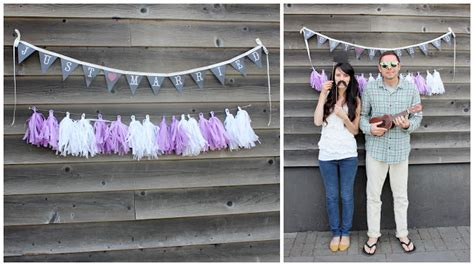 How To Make Tissue Paper Tassel Garland - state diy tissue paper tassel garland photo backdrop
