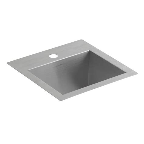 kohler stainless undermount sink kohler lyric drop in undermount stainless steel 15 in l 1