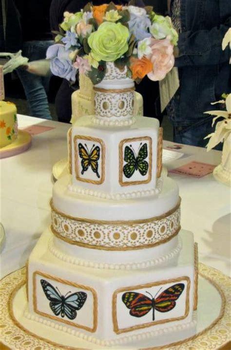 multiple tier butterfly theme wedding cake  fresh