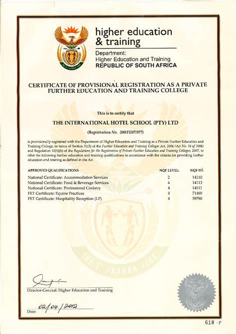 bureau of educator certification registrations and accreditations international hotel