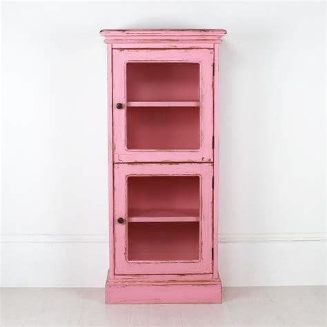 two door cabinet in pink country storage