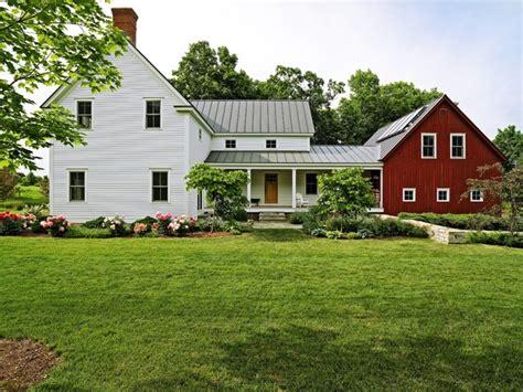 Farmhouse With Attached Garage by Entry Garden Farmhouse Exterior Burlington
