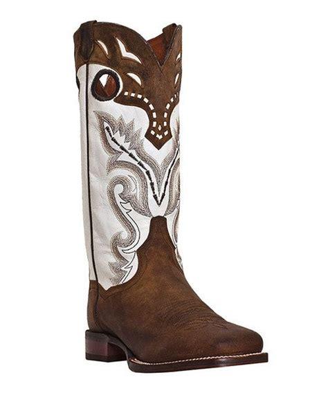 dan post brown white getaway leather cowboy boot