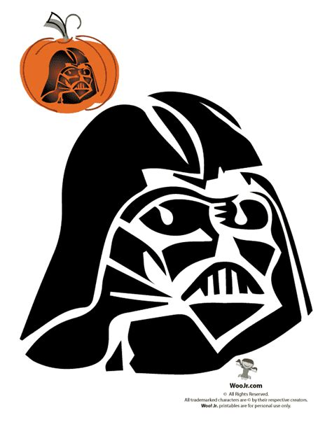 darth vader pumpkin stencil woo jr kids activities