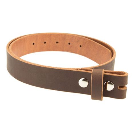 buffalo leather casual belt strap no buckle 1 1 2 quot amish