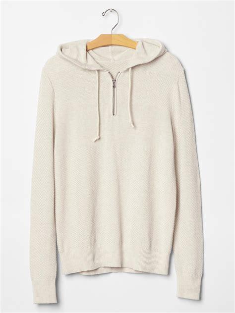 To Sweater Hodie Gender gap beige linen cotton sweater hoodie for lyst